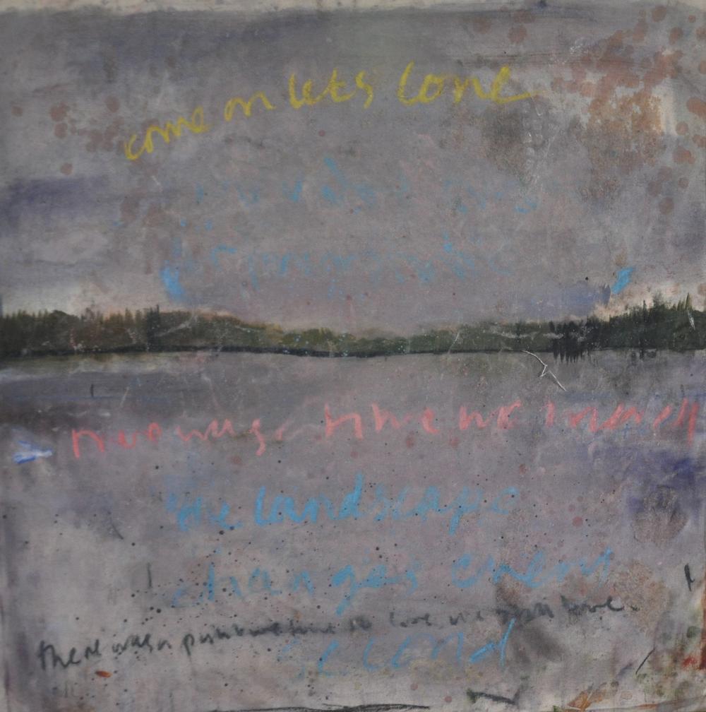 5 pm Oilon Canvas , 92 x 92 cm