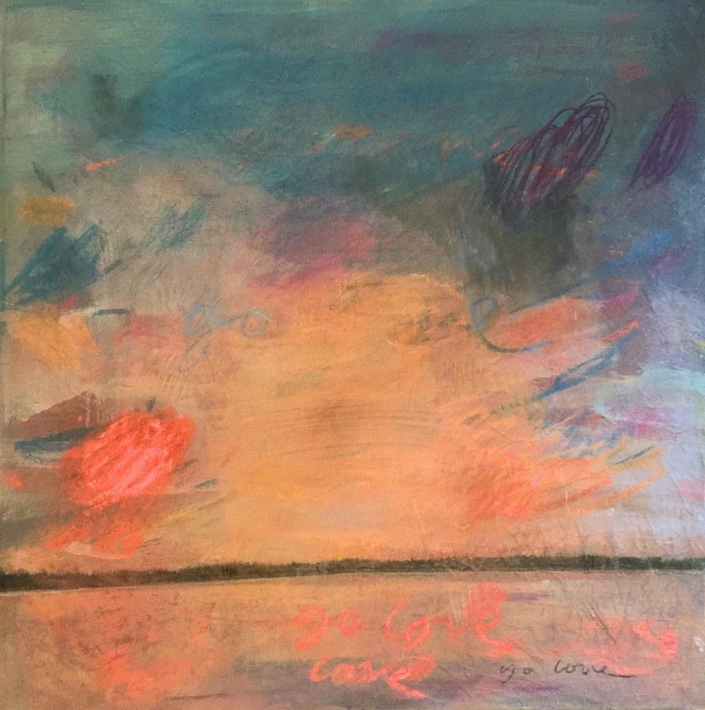 4:30 pm Oilon Canvas , 92 x 92 cm