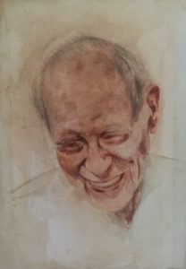 Mr Bagheri, 2014 Watercolour on paper