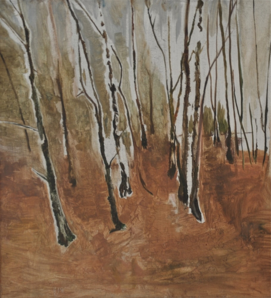 Winter Near Golf Course Woods (1 of 2), 2000 Oil on Canvas