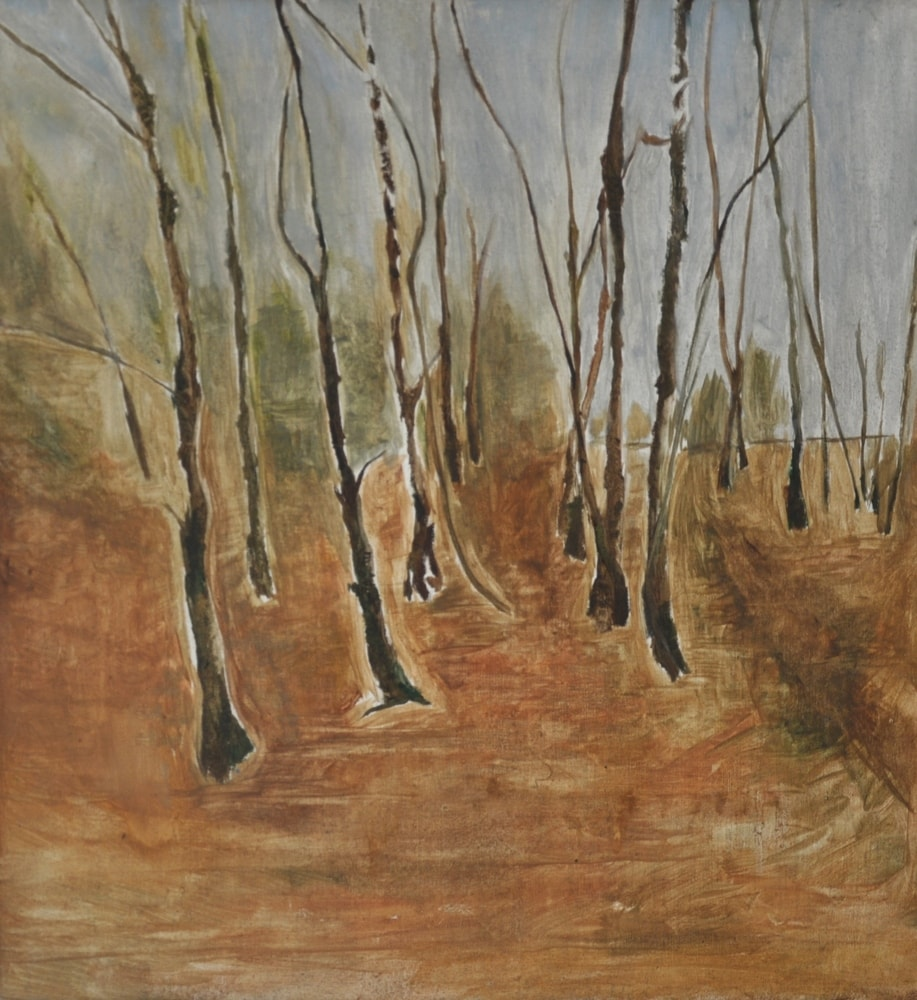 Winter Near Golf Course Woods (2 of 2), 2000 Oil on Canvas
