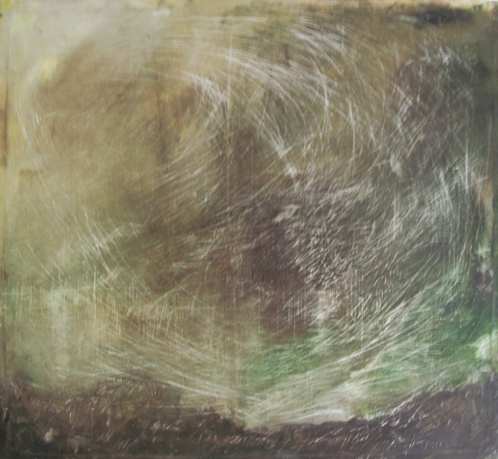 Cliff, Storm, Unity, 1998 Oil on Canvas