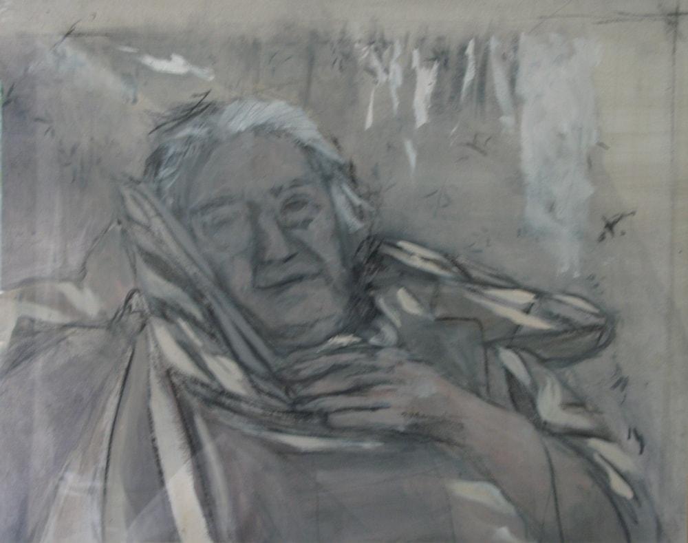 Grandma, 2001 Oil on Paper