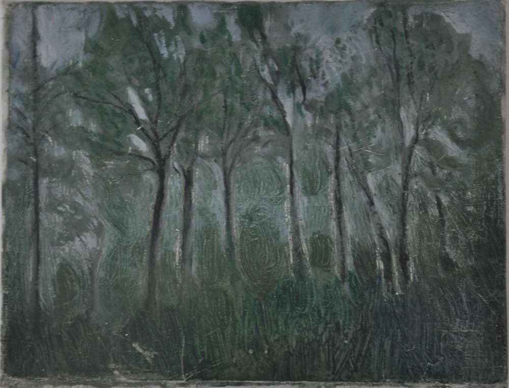 Fleeting Trees, 2000, Oil on Canvas 32 x 25 cm