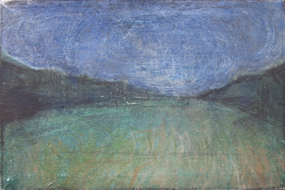 Tuscan Landscape 5, 2000 Oil on Canvas 20.5 x 30.7 cm