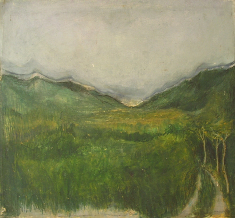 Tuscan Landscape II, 2000 Oil on Canvas 585mm X 585mm